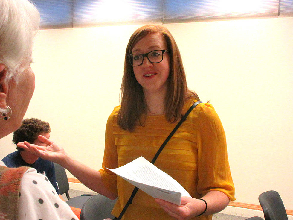 Photo of Megan Geiger speaking